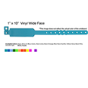 Codice BV001WF - PLASTIC OR VYNIL WRISTBANDS WIDE FACE