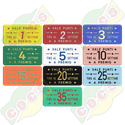 Codice B.30/60000 - RECTANGULAR PLASTIC TOKEN 30 X 60mm - VALE PUNTI ( VALID POINTS - CHIP SHOOTING ) - PRINTED IN ITALI