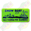 Codice B.30/60000 - RECTANGULAR PLASTIC TOKEN 30 X 60mm FOR SHOWBOAT RIDE STANDARD