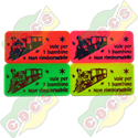 Codice B.30/60000/TREN - RECTANGULAR PLASTIC TOKEN 30 X 60mm - FOR TRAIN RIDE STANDARD