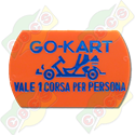 Codice B.37/60005 - PLASTIC TICKET  37 X 60mm FOR  GO-KART RIDE  STANDARD - PRINTED IN ITALIAN