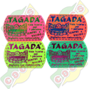 Codice B.37/60005/TAGA - PLASTIC TICKET  37 X 60mm STANDARD FOR TAGADA RIDE